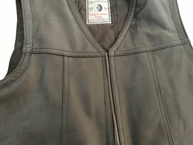 Men Leather Vest 100% Cow