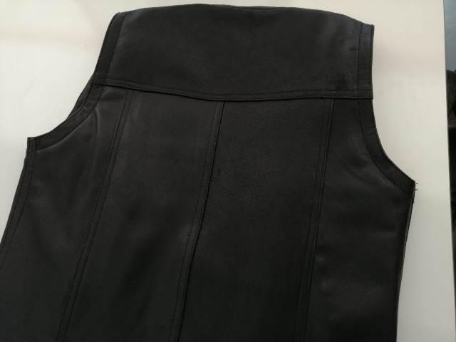 Men Leather Vest 100% Cow